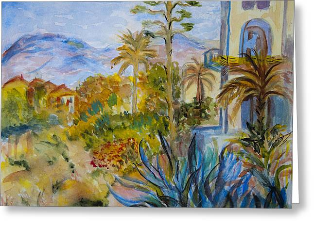 My Rendition Of Villas At Bordighera Greeting Card