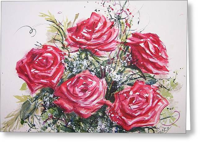 My Roses Greeting Card