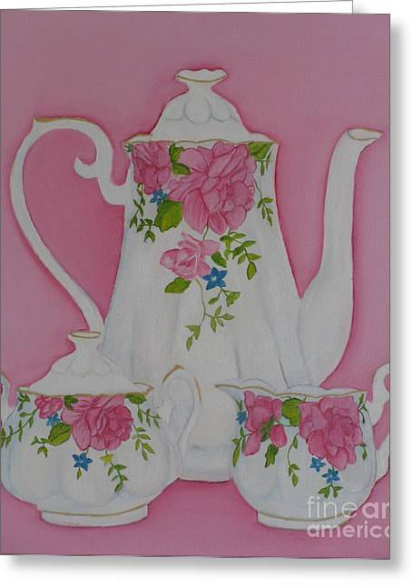 My Royal Doulton  English Rose Teaware Greeting Card