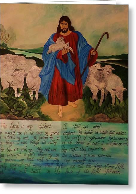 My Shepherd Greeting Card by Christy Saunders Church