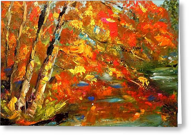 My Side Of The River Greeting Card by Barbara Pirkle