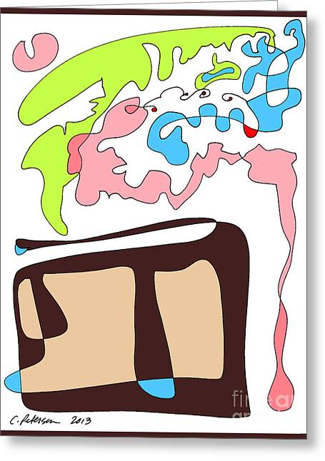 My Slice Of Birthday Cake. Yum Greeting Card by Cathy Peterson