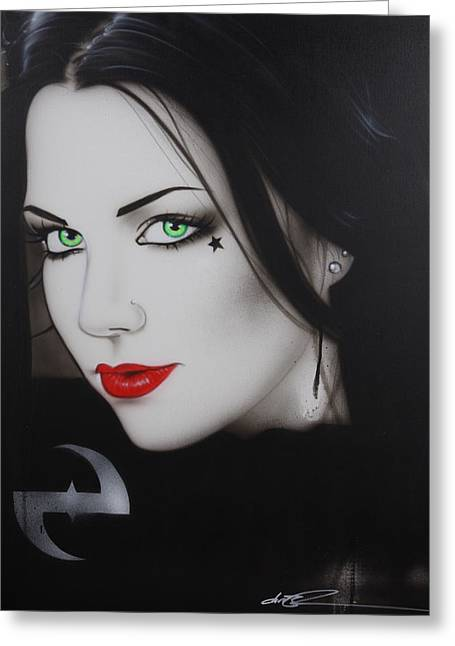 Evanescence - ' My Soul Cries For Deliverance ' Greeting Card by Christian Chapman