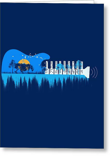 My Sound World Greeting Card by Neelanjana  Bandyopadhyay