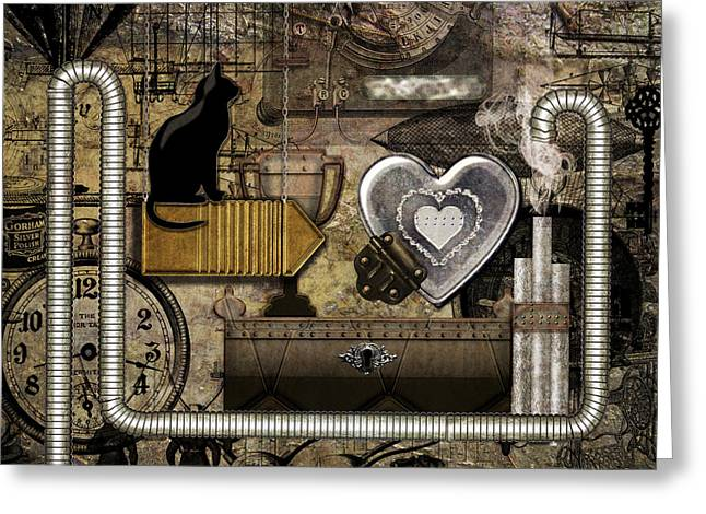 My Steampunk Heart Greeting Card
