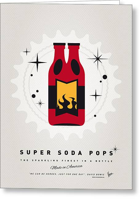 My Super Soda Pops No-08 Greeting Card by Chungkong Art
