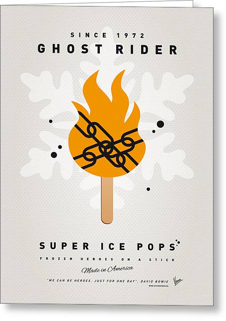 My Superhero Ice Pop - Ghost Rider Greeting Card by Chungkong Art