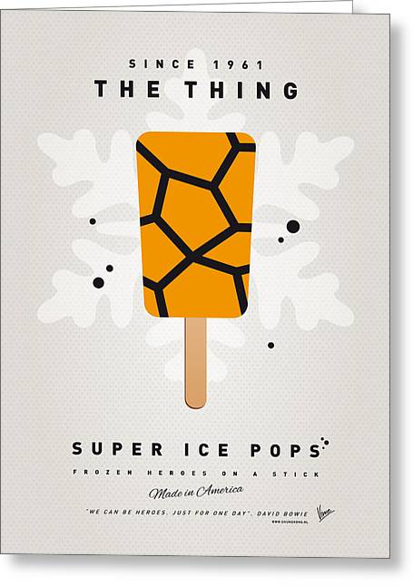 My Superhero Ice Pop - The Thing Greeting Card by Chungkong Art