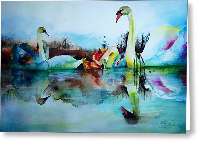 My Swam Lake Greeting Card by Isabel Salvador