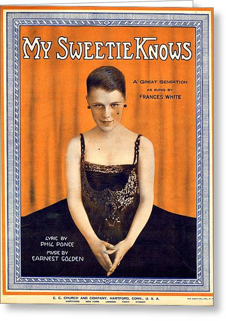 My Sweetie Knows Greeting Card by Mel Thompson