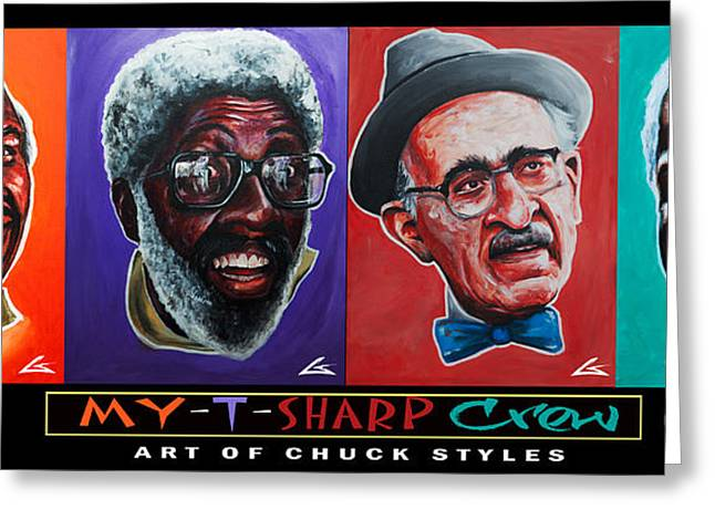 My-t-sharp Crew Greeting Card by The Styles Gallery