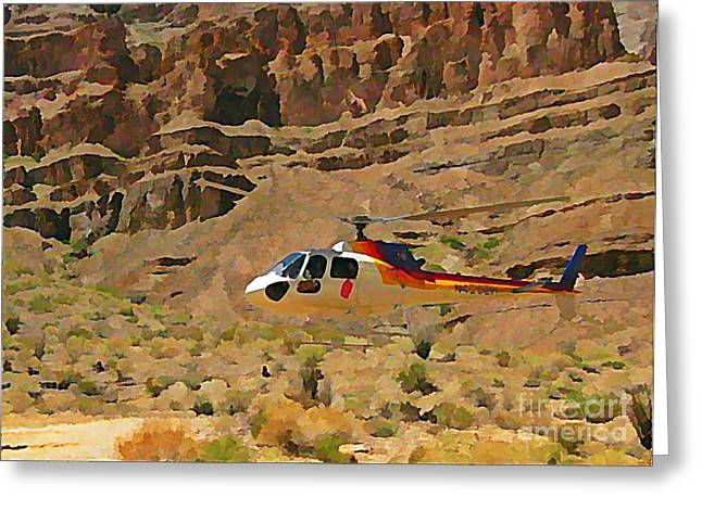 My Taxi To The Grand Canyon And Back Greeting Card by John Malone