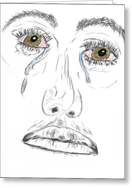 My Tears Greeting Card