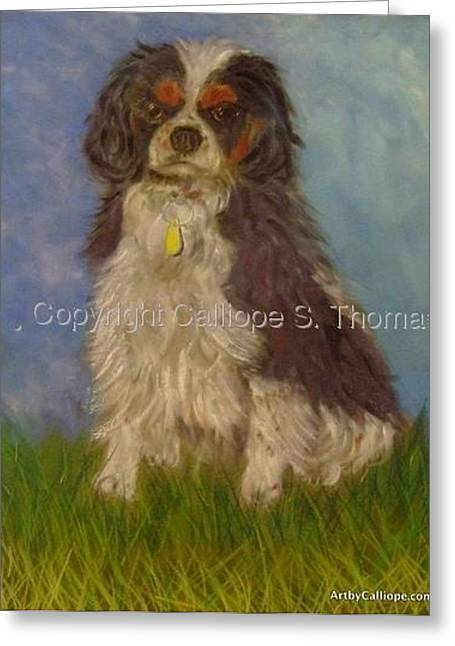My Tri-colored Cavalier Greeting Card