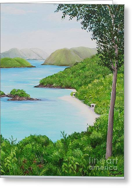 My Trunk Bay Greeting Card
