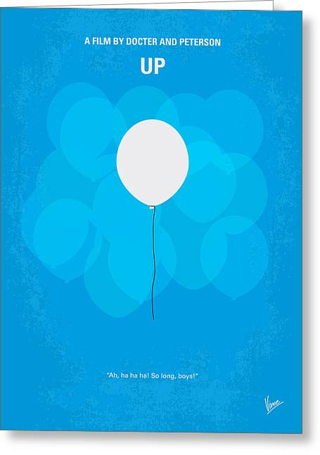 My Up Minimal Movie Poster Greeting Card
