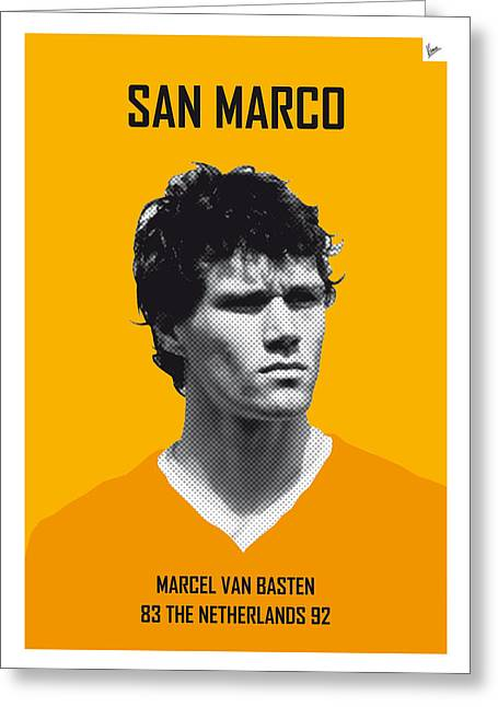 My Van Basten Soccer Legend Poster Greeting Card by Chungkong Art