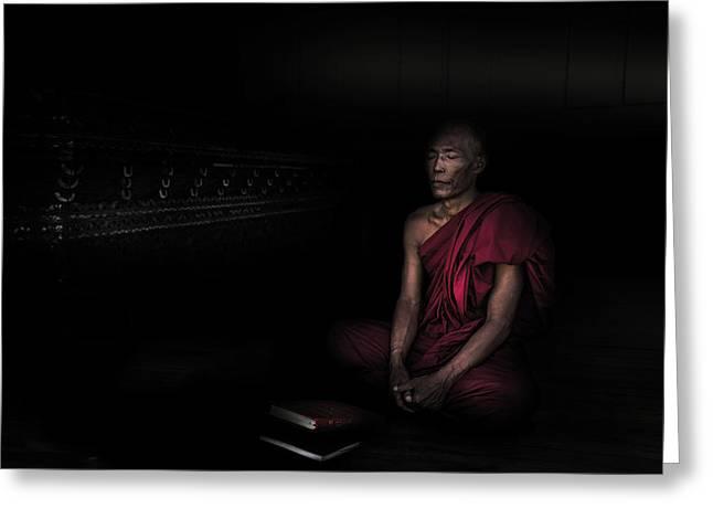 Myanmar - Meditation Greeting Card