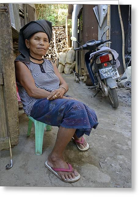 Myanmar Portrait Greeting Card