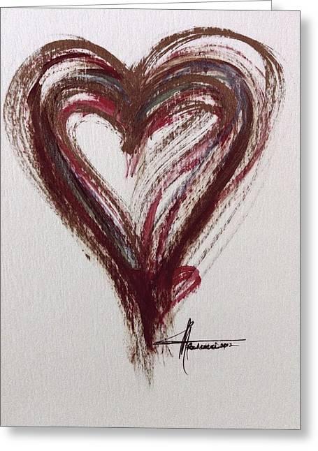 Myeloma Awareness Heart Greeting Card