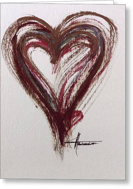 Myeloma Awareness Heart Greeting Card