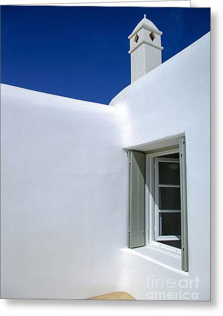 Mykonos Abode Greeting Card