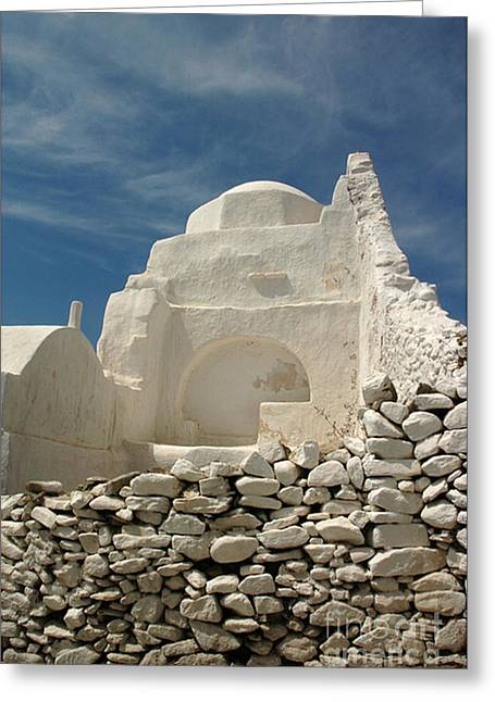 Greeting Card featuring the photograph Mykonos Church by Vivian Christopher