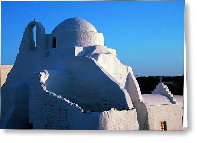 Greeting Card featuring the photograph Mykonos Island Greece by Colette V Hera  Guggenheim