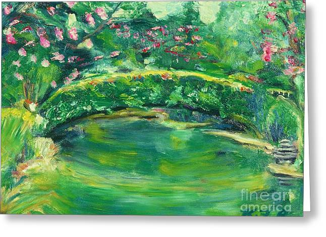 Mynelle Gardens Greeting Card by Karen Francis