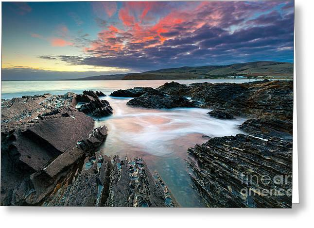 Myponga Beach Sunrise Greeting Card by Bill  Robinson