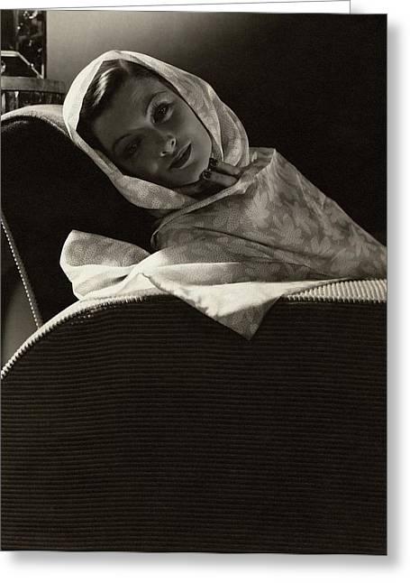 Myrna Loy In The Great Ziegfeld Greeting Card by Edward Steichen