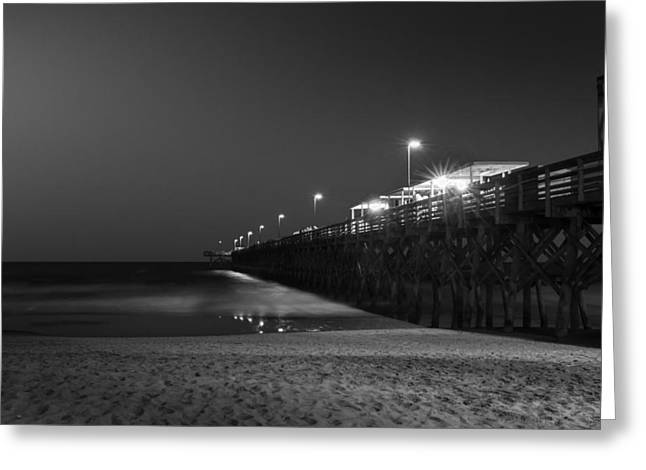 Myrtle Beach 2nd Ave Pier At Night II Greeting Card
