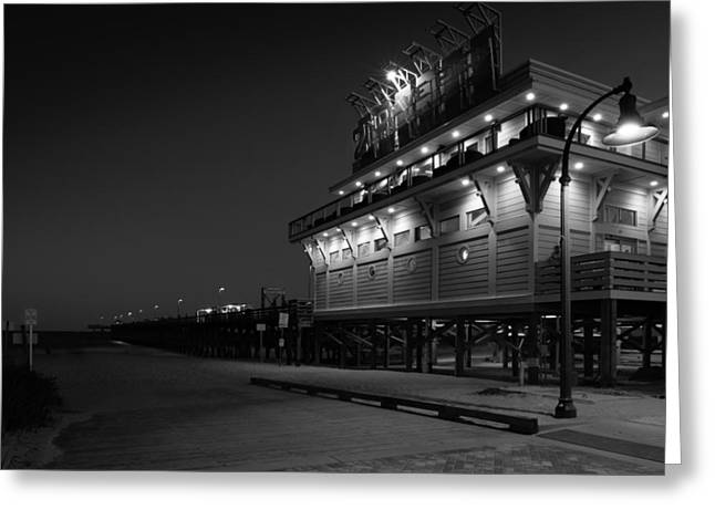 Myrtle Beach 2nd Ave Pier At Night Greeting Card