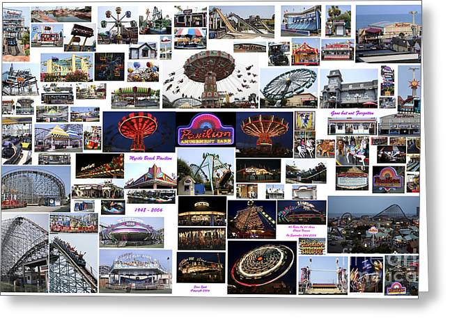 Myrtle Beach Pavilion Collage Greeting Card