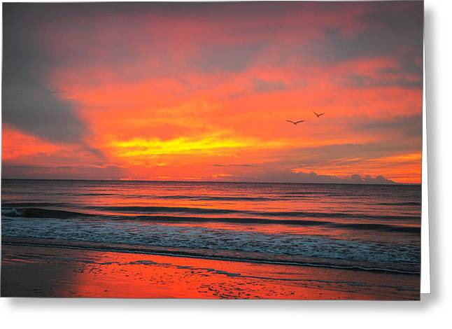 Myrtle Beach Sunrise Greeting Card by Mary Timman