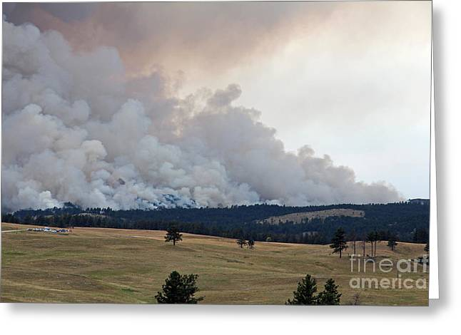 Greeting Card featuring the photograph Myrtle Fire West Of Wind Cave National Park by Bill Gabbert