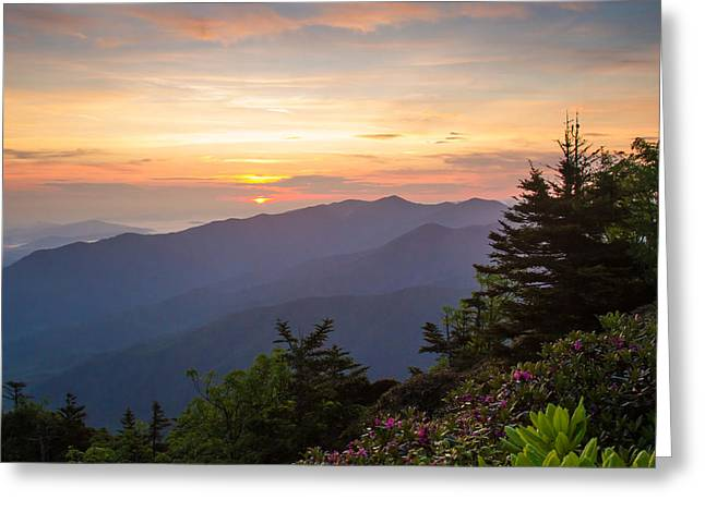 Myrtle Point - Mt Leconte Greeting Card by Doug McPherson