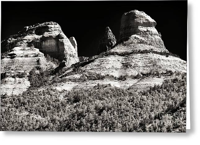 Mysteries In Sedona Greeting Card by John Rizzuto