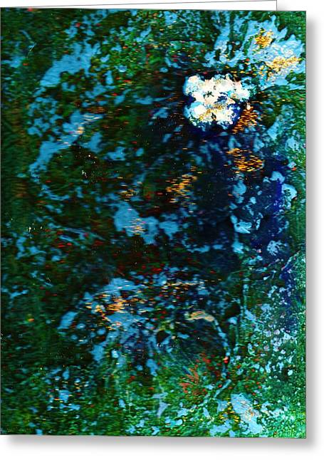 Mysterious Flower Under The Sea Greeting Card by Anne-Elizabeth Whiteway