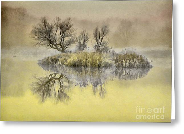 Mysterious Lake 2 Greeting Card by GabeZ Art