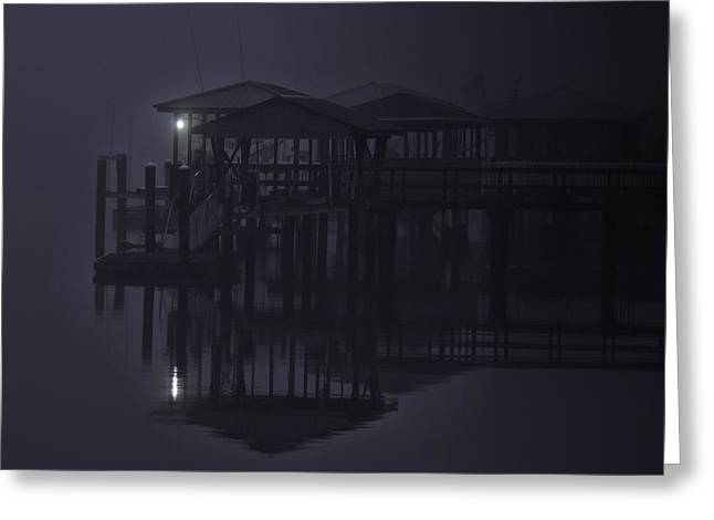 Greeting Card featuring the photograph Mysterious Morning by Laura Ragland