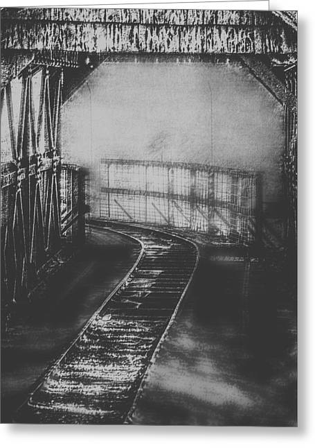 Mysterious Train Tracks Greeting Card by Melanie Lankford Photography