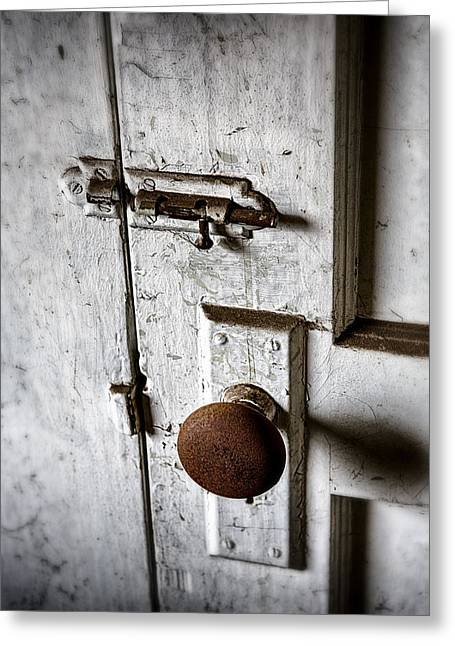 Mystery Door Greeting Card by Caitlyn  Grasso