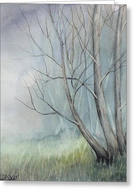 Greeting Card featuring the painting Mystery Forest by Rebecca Davis