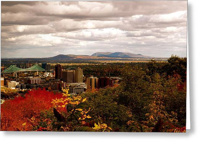 Mystery In Fall In Montreal Greeting Card by Jocelyne Choquette