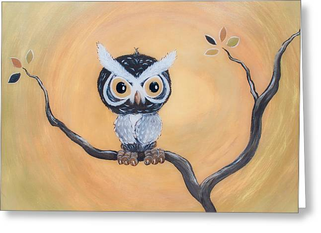 Mystery Owl Greeting Card by Jennifer Carter