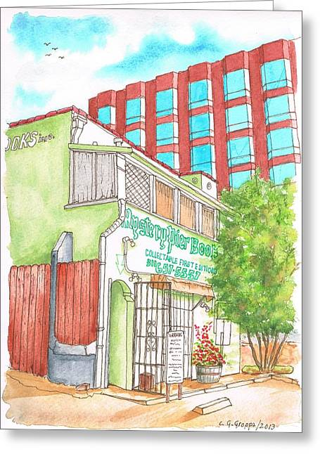 Mystery Pier Book Store On Sunset Blvd - West Hollywood - California Greeting Card