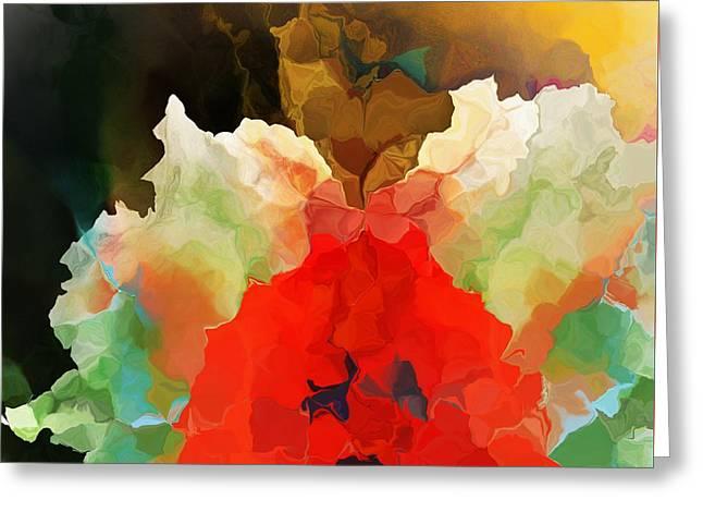 Mystic Bloom Greeting Card by David Lane