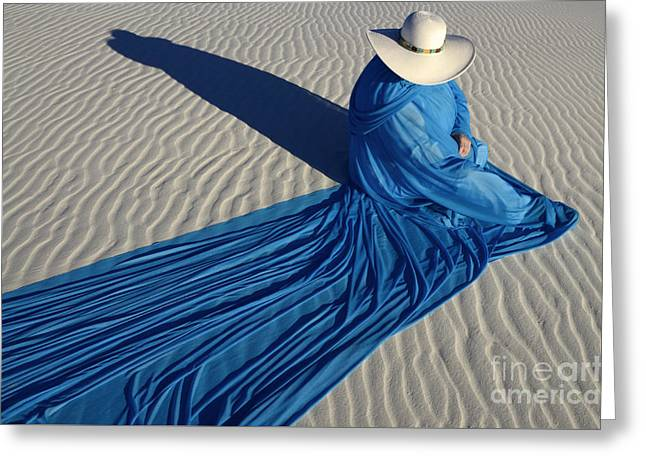 Mystic Blue 1 Greeting Card by Bob Christopher