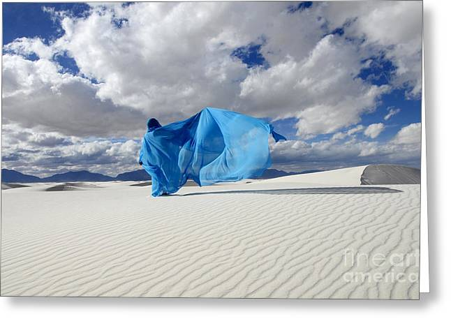 Mystic Blue 11 Greeting Card by Bob Christopher